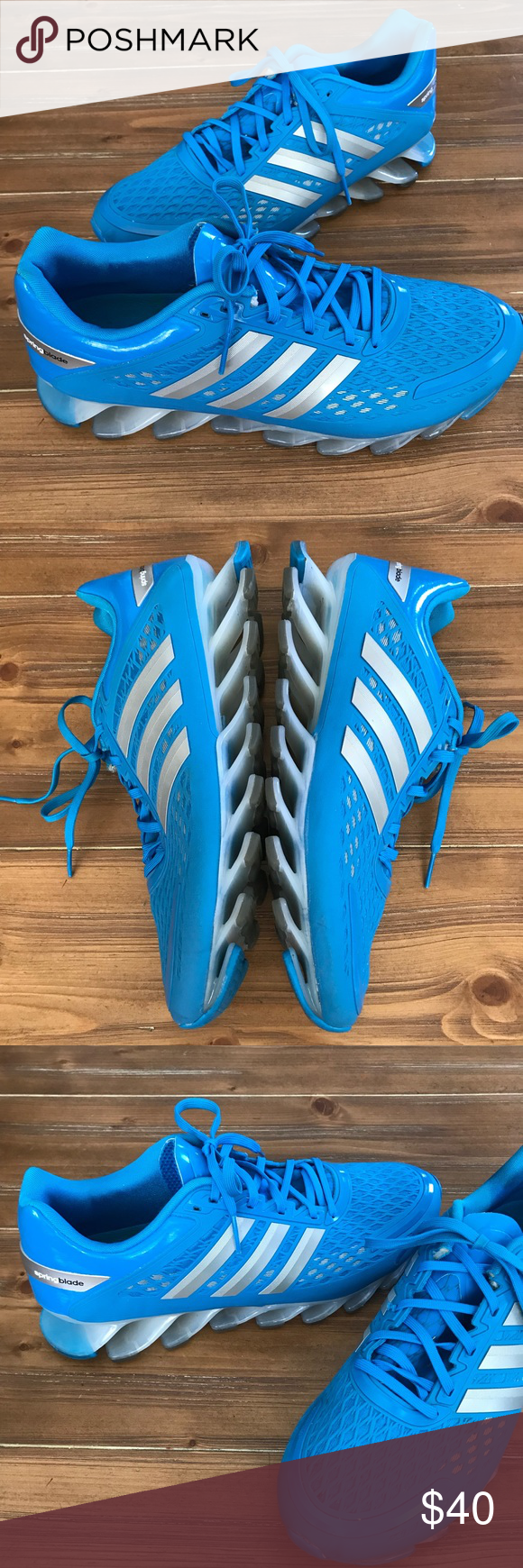 hot sale online 21ddb 3051b ADIDAS Solar Blue Springblade Razor 10 Adidas Springblade Razor Men s Sneakers  Solar Blue M17312 Great condition