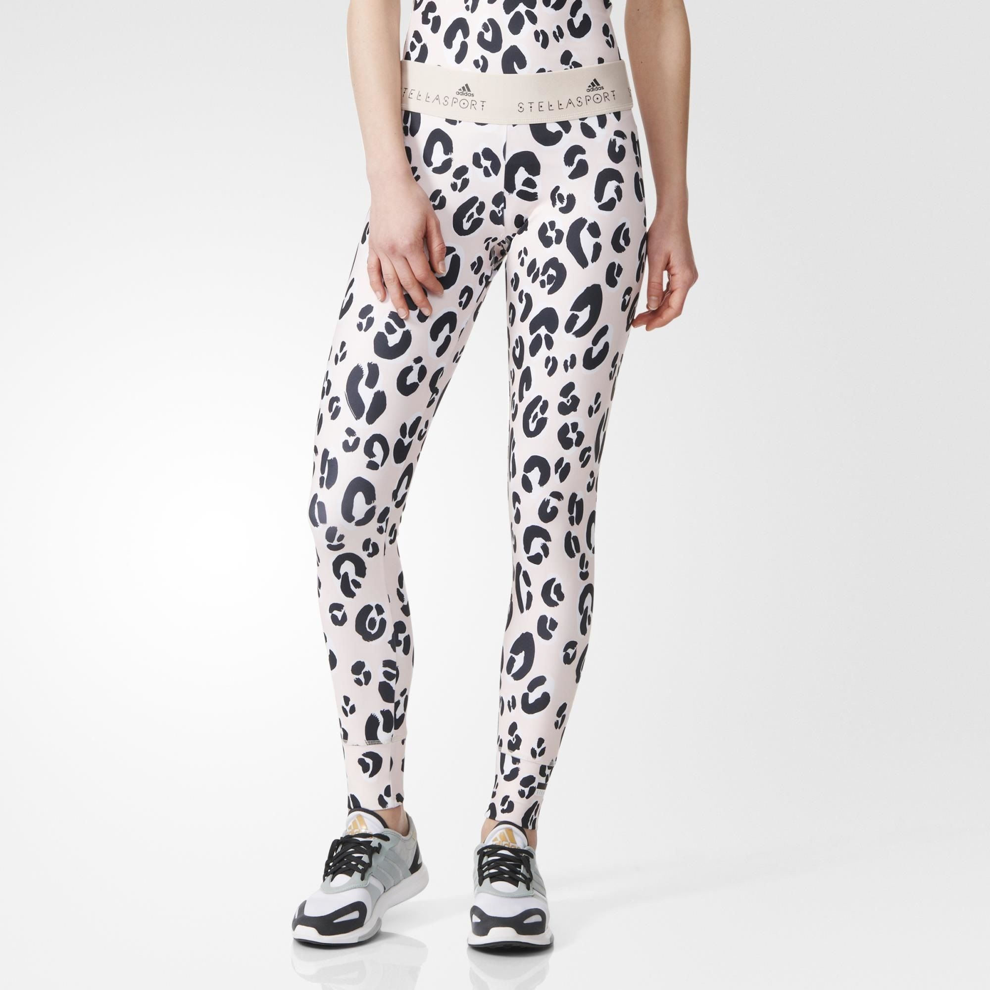 Designed in collaboration with Stella McCartney, these women's adidas  STELLASPORT training tights display her signature