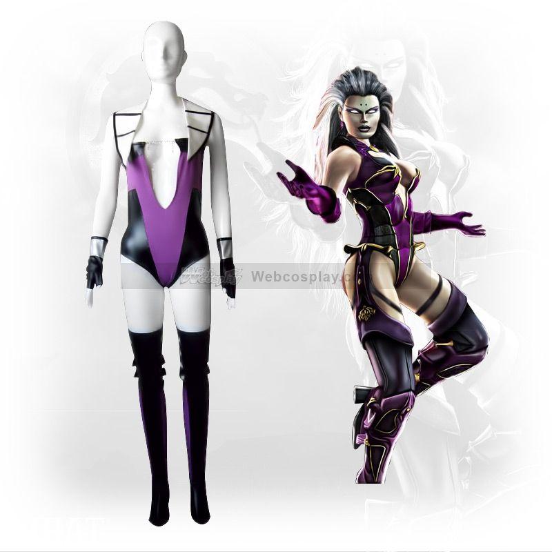 Mortal Kombat Sindel Cosplay Costume Halloween Costumes Women