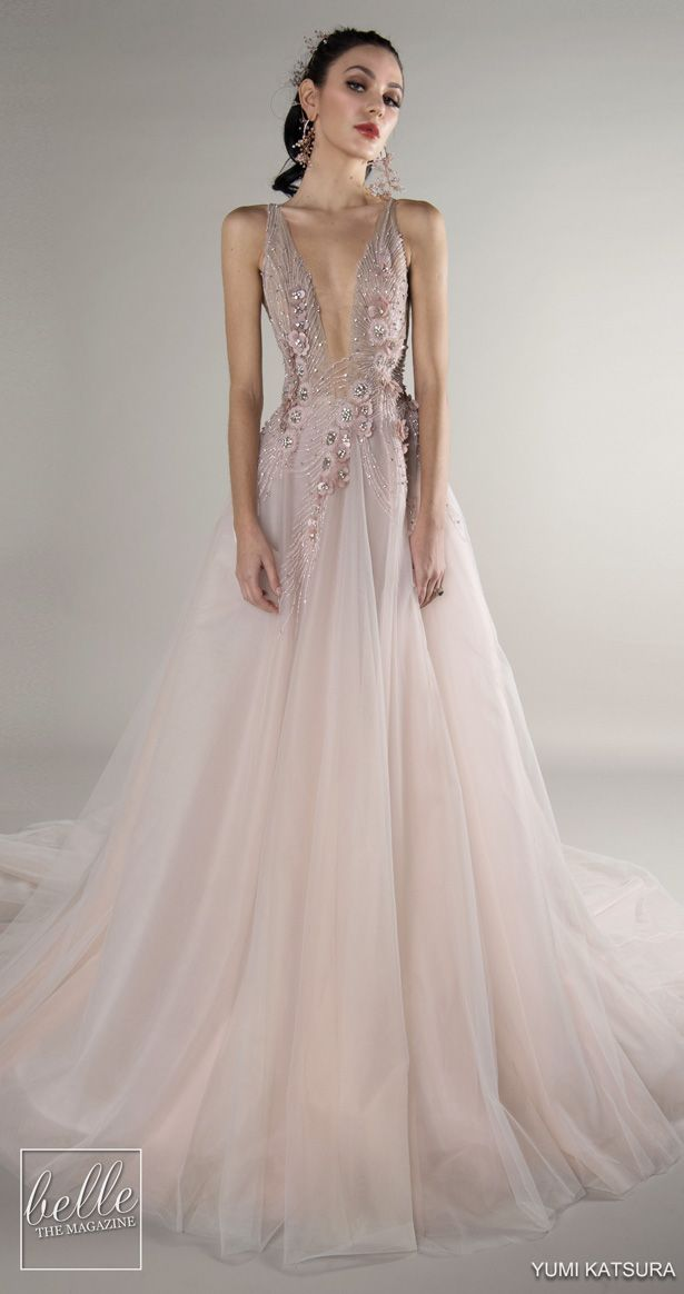 7eee76bd2362 The Chic Technique: Yumi Katsura Wedding Dresses Fall 2019 Nature's  Symphony Bridal Collection | Blush ball gown wedding dress | Dusty rose  ballgown ...