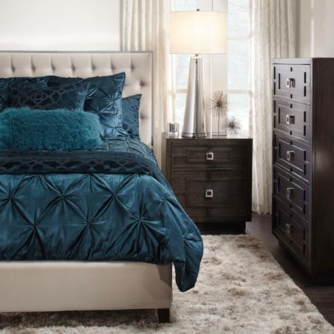 All Same Color Avignon Bedding Cerulean From Z Gallerie Decor Extraordinary Avignon Bedroom Furniture Decor