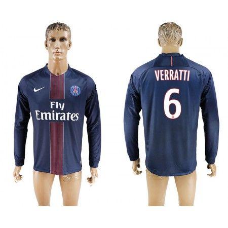 Paris Saint Germain PSG 16-17 Marco Verratti 6 Hjemmedraktsett Langermet.  http://www.fotballteam.com/paris-saint-germain-psg-16-17-marco-verratti-6-hjemmedraktsett-langermet.  #fotballdrakter