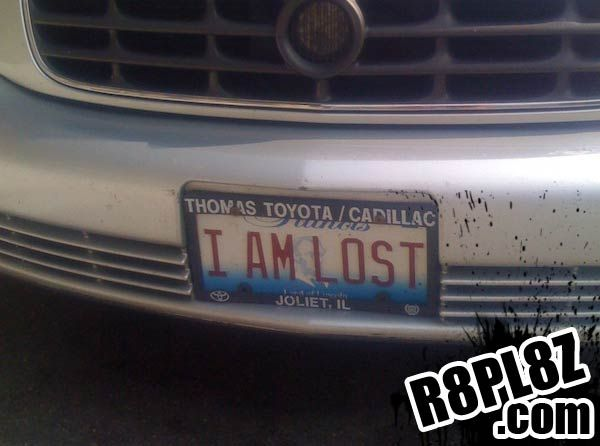 i am lost rate funny license plates and cool vanity plate ideas rh pinterest com