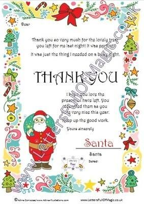 Santa Christmas Morning Thank You Full Letter By Www Lettersfullofmagic Co Uk Personalized Letters From Santa Santa Letter Cool Lettering