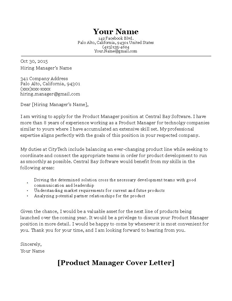 27+ product manager cover letter resume crm skills on it section network design engineer