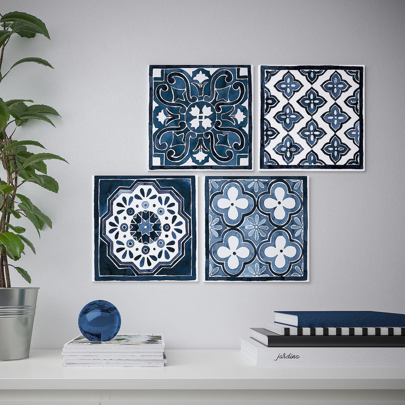 Ikea pjatteryd blue patterns picture beach house