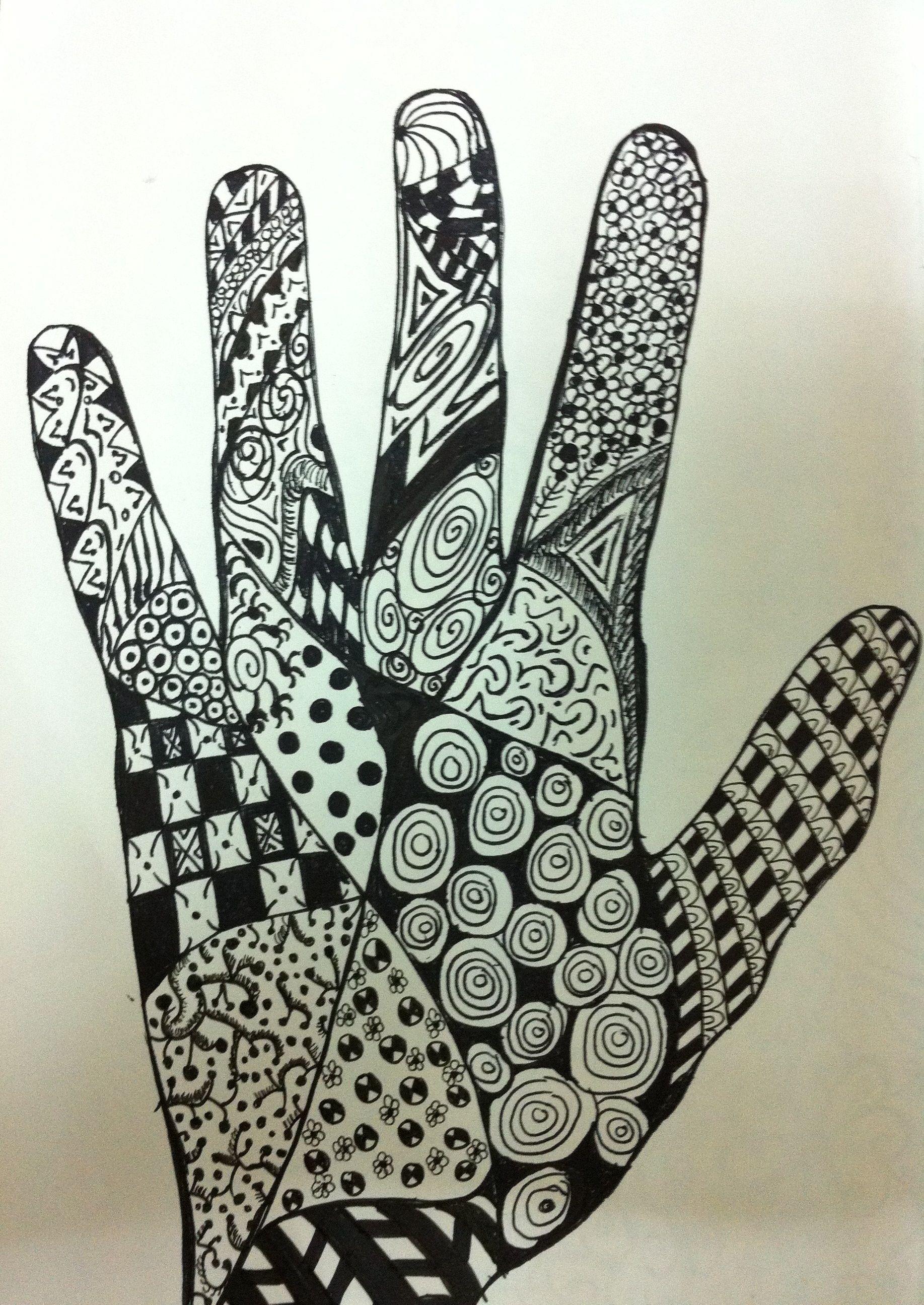 hand zentangle   My ze...