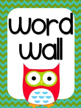 Word Wall Letters Owl Themed Word Wall Letters Chevron Background  Word Wall