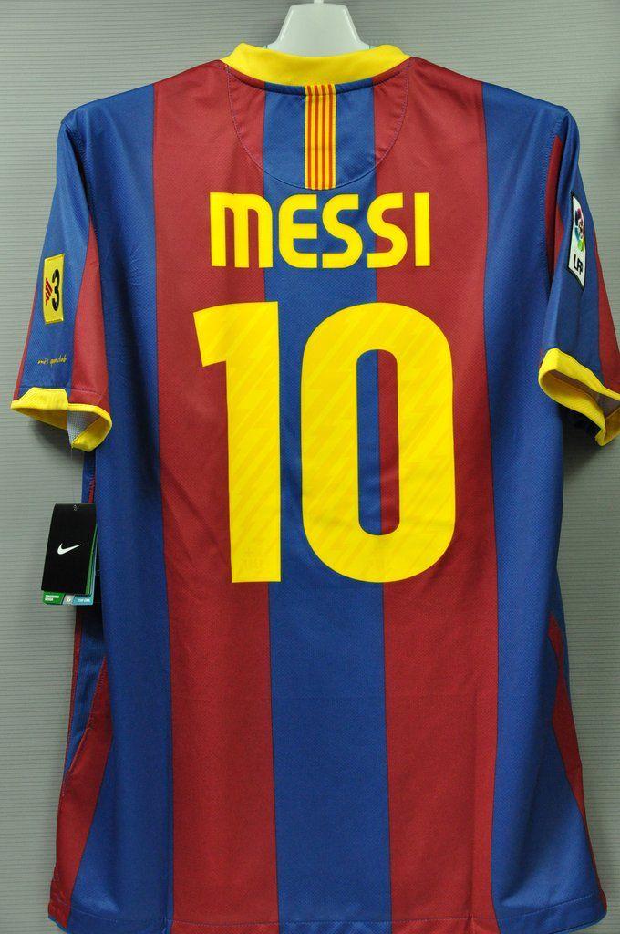 Barcelona Home Messi # 10 Replica Jersey Shirt Spanish League FPL Liga BBVA  Euro Champion official