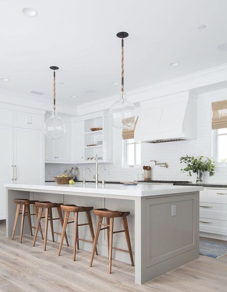 island color and stools hood is great too i like the shades but rh pinterest com