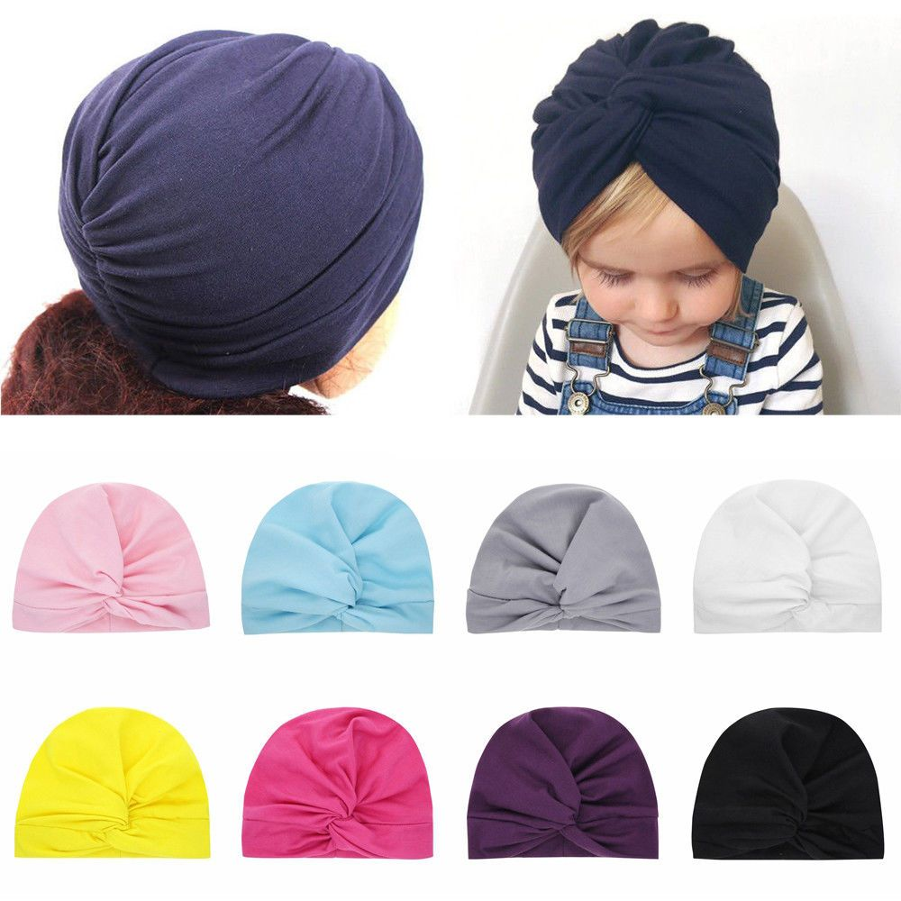 d264b3bfd4b3f Headwear Accessories Knotted Headband Toddler Turban Cute Baby Hat Beanie  Cap  fashion  clothing