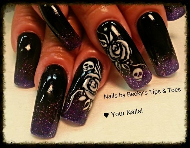 Glitter fade to Black by beckystnt - Nail Art Gallery nailartgallery ...
