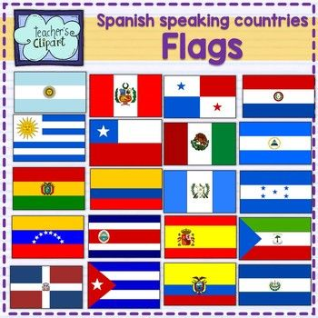 Spanish speaking countries FLAGS Banderas Países