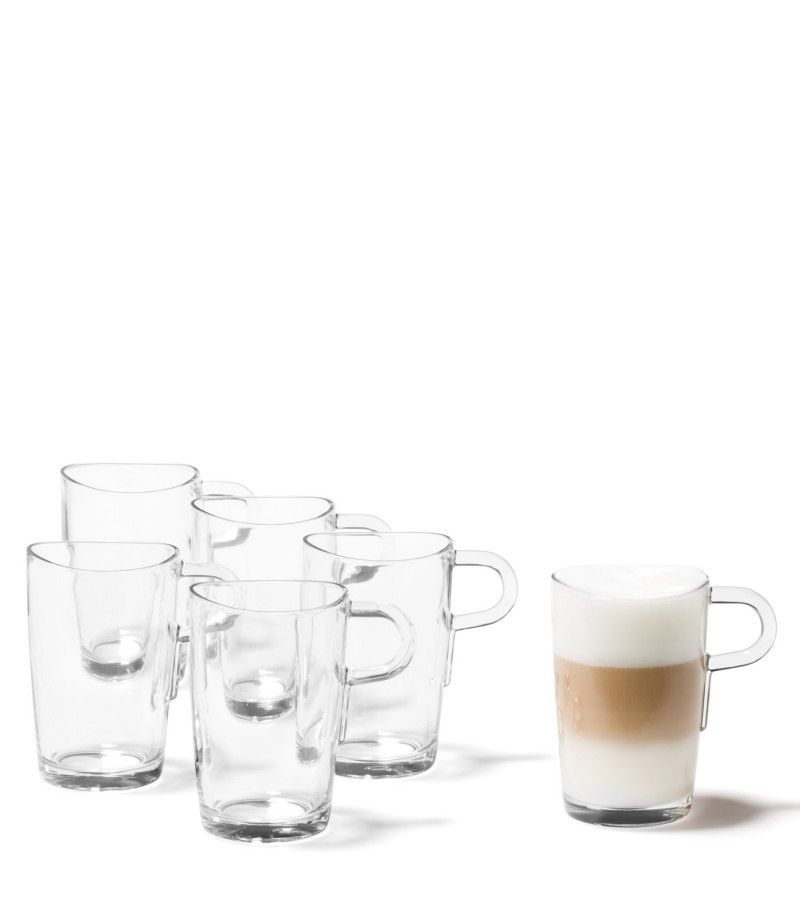 Einen Latte Macchiato trinkt man in Italien traditionell aus einem Glas. Bei LEONARDO hat er einen praktischen Henkel und das charakteristische Loop-Design: Der geschwungene Rand des 6 tlg. Sets. geeignet für HeißgetränkeBecher mit sicherem Stand6 tlg. Set, passend zu anderen KollektionsteilenSpülmaschinengeeignetGröße (B/H/T): 290/130/195mm