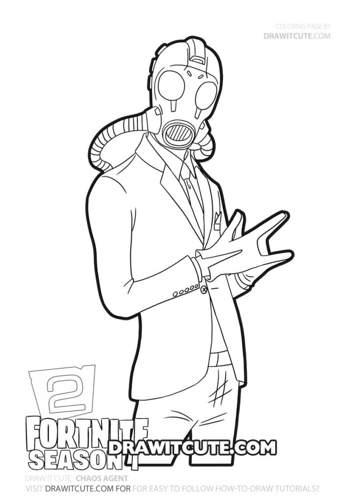 How To Draw Chaos Agent Fortnite Chapter 2 Draw It Cute Fortnitebattleroyale Fortnitememes Fortni Cool Coloring Pages Coloring Books Cute Coloring Pages