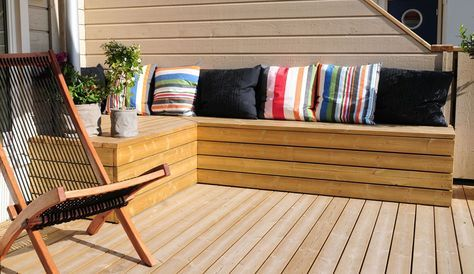 Seriøst Benk med oppbevaring | platting ute | Outdoor chairs, Terrace WP-25