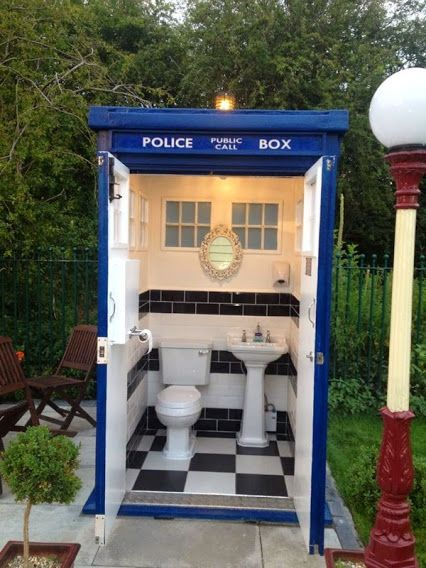 Google Tardis Bathroom This Wpuld Be Awesome Outside Impressive Outdoor Bathroom Plans Model