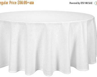 20%SALE Linen Tablecloth, Natural Tablecloth, Kitchen Accessory, Home  Accessory, Round