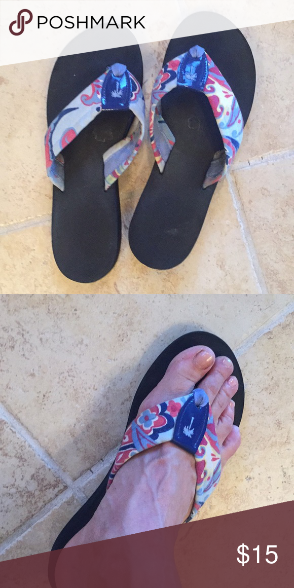 930aca7f5155 Eliza B flip flops Adorable Eliza B flip flops. Multi colored. Still in  great condition! They run small. I am a 9.5-10 Eliza B Shoes Sandals