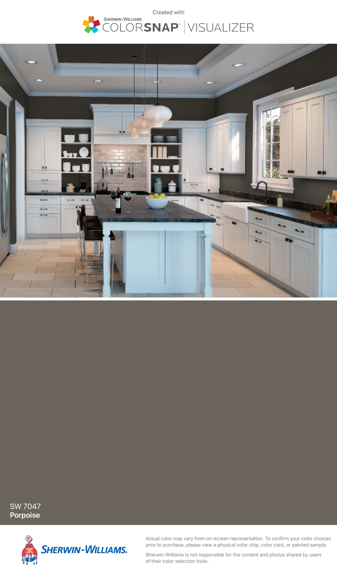 I Found This Color With Colorsnap Visualizer For Iphone By Sherwin Williams Porpoise Painting Kitchen Cabinets Kitchen Paint Sherwin Williams Silver Strand
