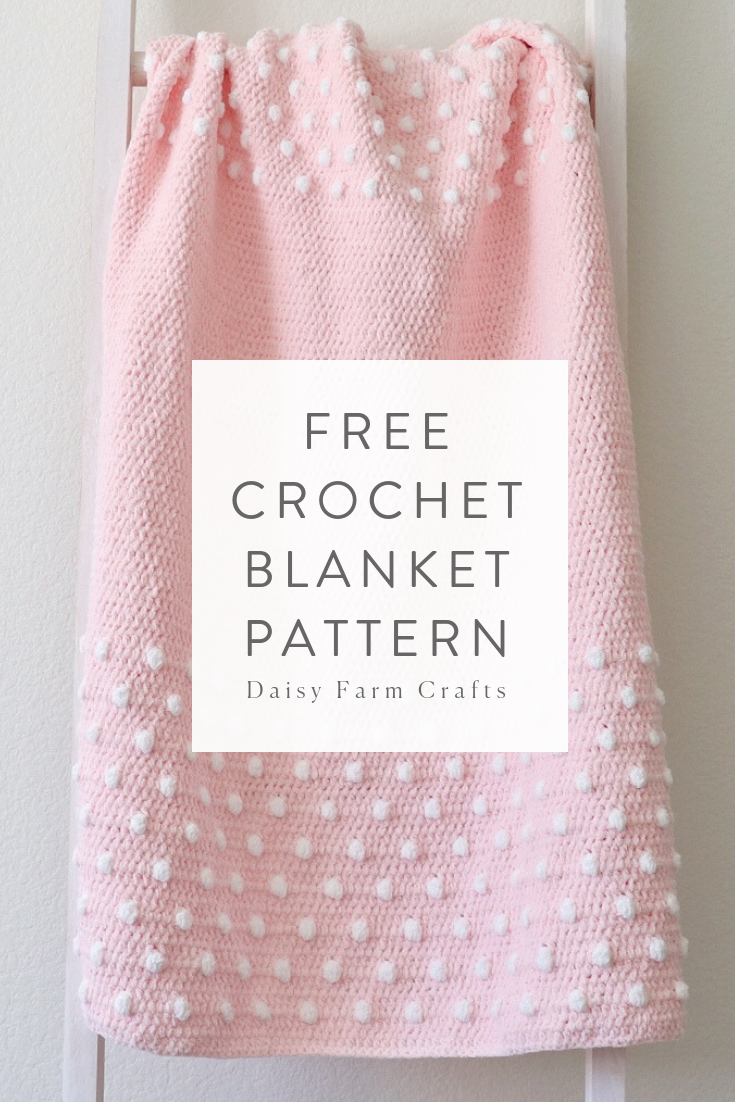 84284629fe744 Free Crochet Pattern - Polka Dot Ends Blanket   Crochet Baby ...