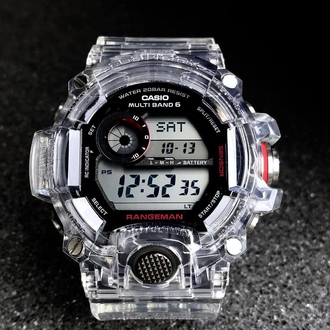 """b75951131562 Ching Ching G-shock on Instagram  """"Crystal clear 2.0 rangeman GW-9400 band  and bezel available 😁pm if interested 🎊🎉  frogman  rangeman  gshock   gwfd1000 ..."""