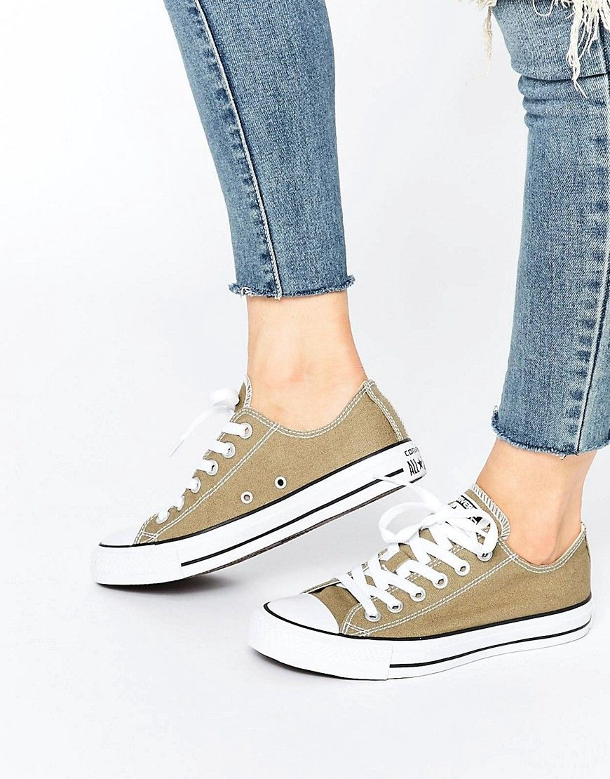 Cómpralo ya!. Zapatillas de color caqui All Star Ox de Converse ... 76e4905bb32
