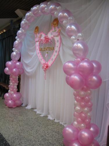Bautizo contamos con arreglos y decoraci n con globos for Decoracion para bautizo