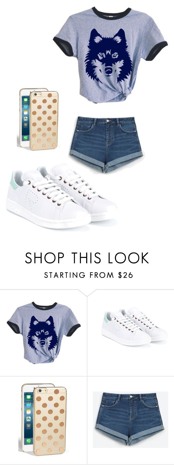 """Untitled #32"" by breanna113 ❤ liked on Polyvore featuring adidas, Kate Spade and Zara"