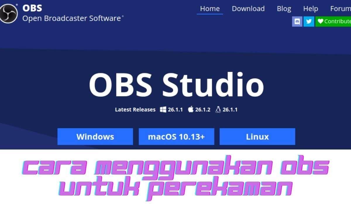 Cara Menggunakan Obs Studio Untuk Record Game Di 2021 Studio Pengetahuan Blog