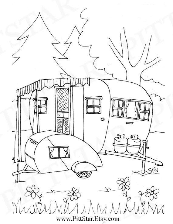 malvorlagen kostenlos wohnwagen  tiffanylovesbooks