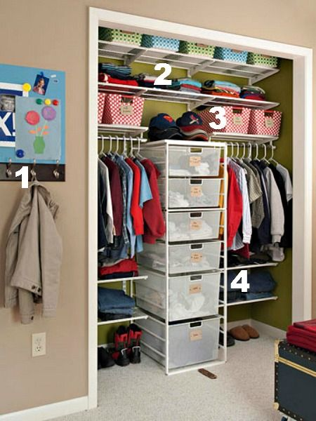 Ideas for Organizing Kids Closets