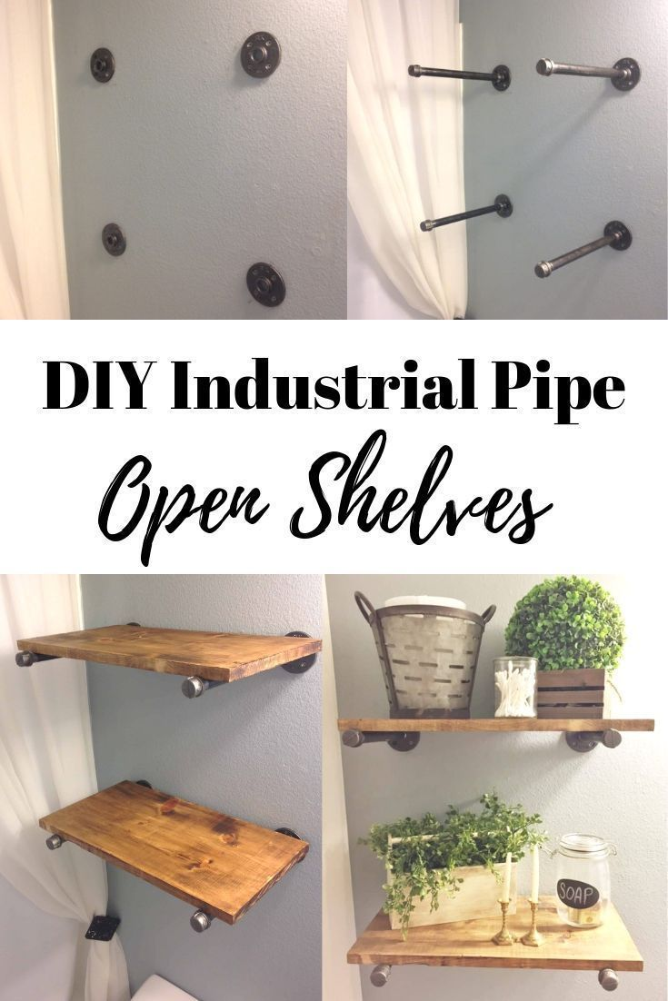 Photo of DIY INDUSTRIAL PIPE OPEN SHELVES for an industrial farmhouse look