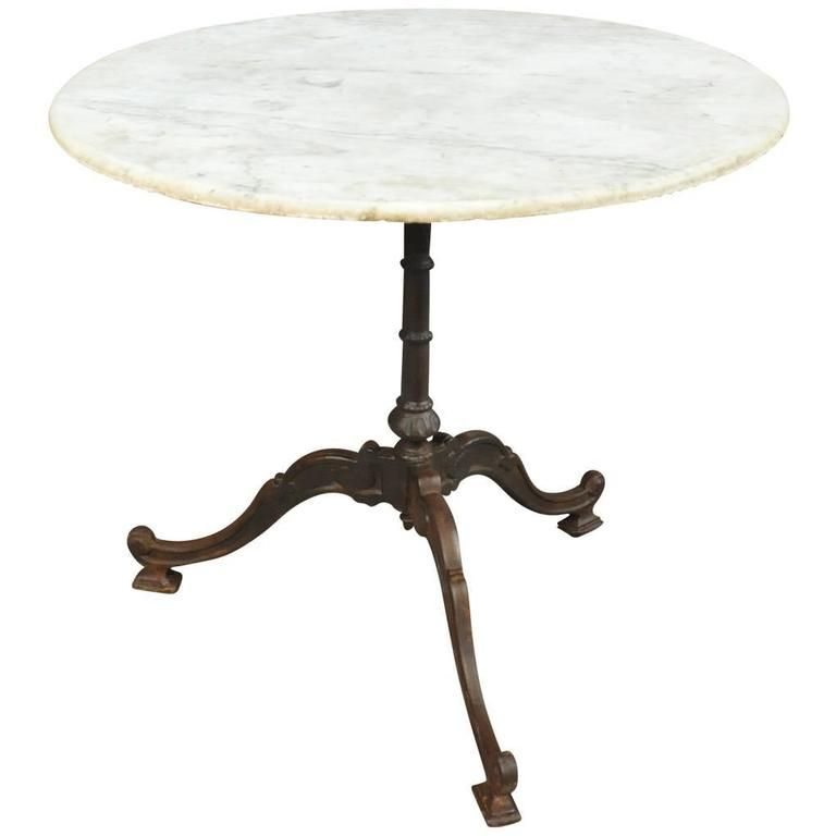 french bistro table or garden table in cast iron and marble 1 rh pinterest com