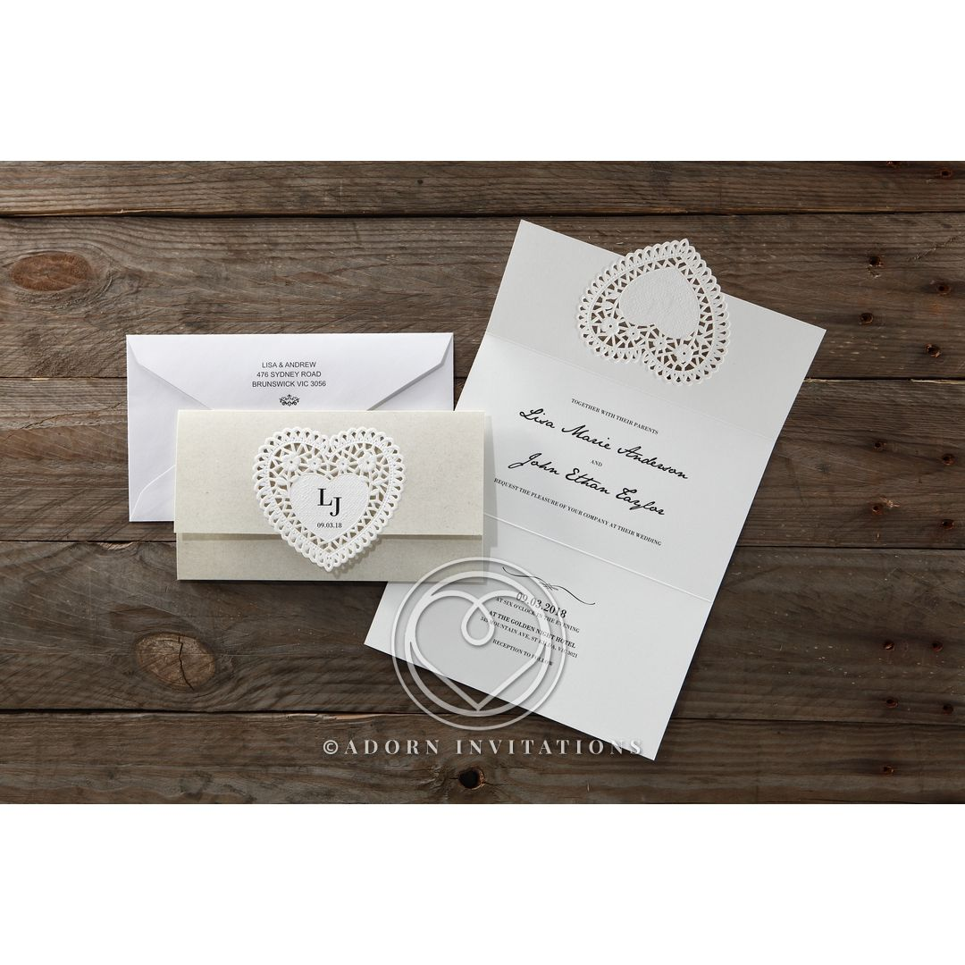 Alluring Letters of love Wedding Invite Card