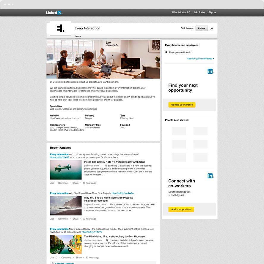 Mockup Plantilla Página Linkedin Empresa v2 | Mockups | Pinterest ...