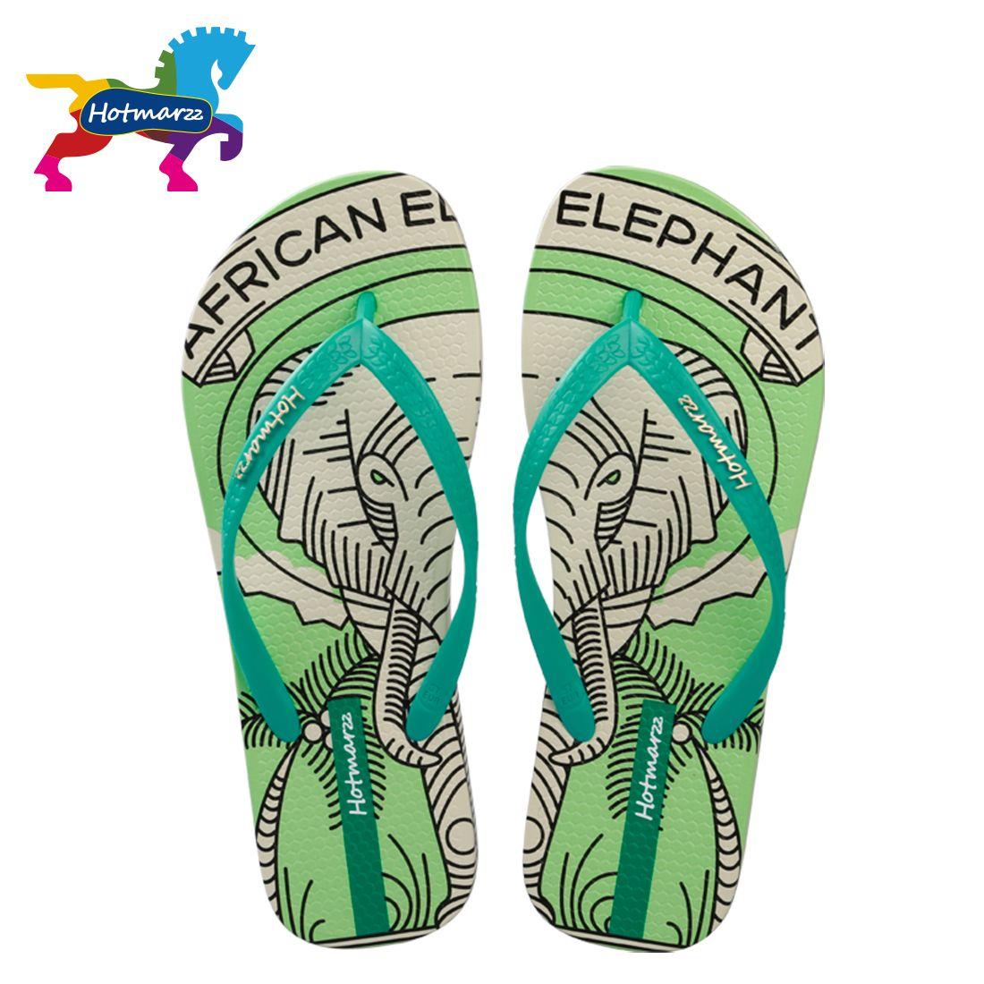 Couple Flip Flops Horse Sand Print Chic Sandals Slipper Rubber Non-Slip Spa Thong Slippers
