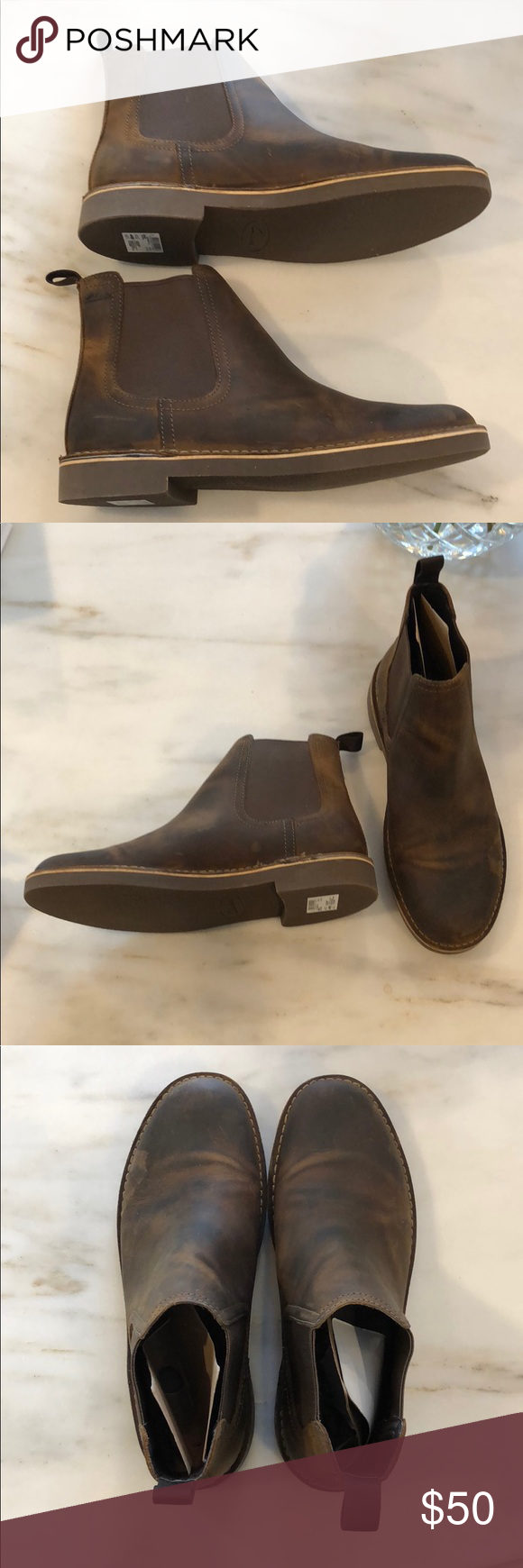6928502e877 NWT Men's Clarks Bushacre Hill Chelsea Boots Brand new with box Clark's  Bushacre Hill Chelsea Boots in Beeswax color Bought on Amazon for $80 Clarks  Shoes ...
