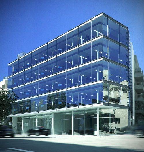 Fachadas de oficinas modernas buscar con google for Fachadas edificios modernos