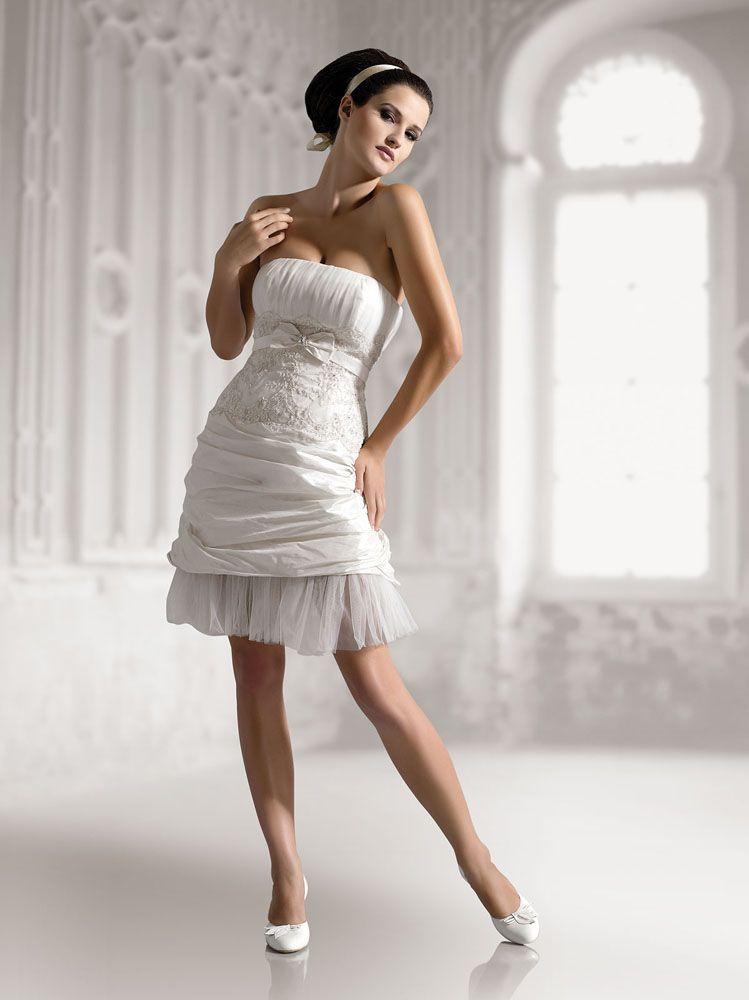 Elizabeth WD40012 süss Kurz/Mini Brautkleider | Hochzeit | Pinterest ...