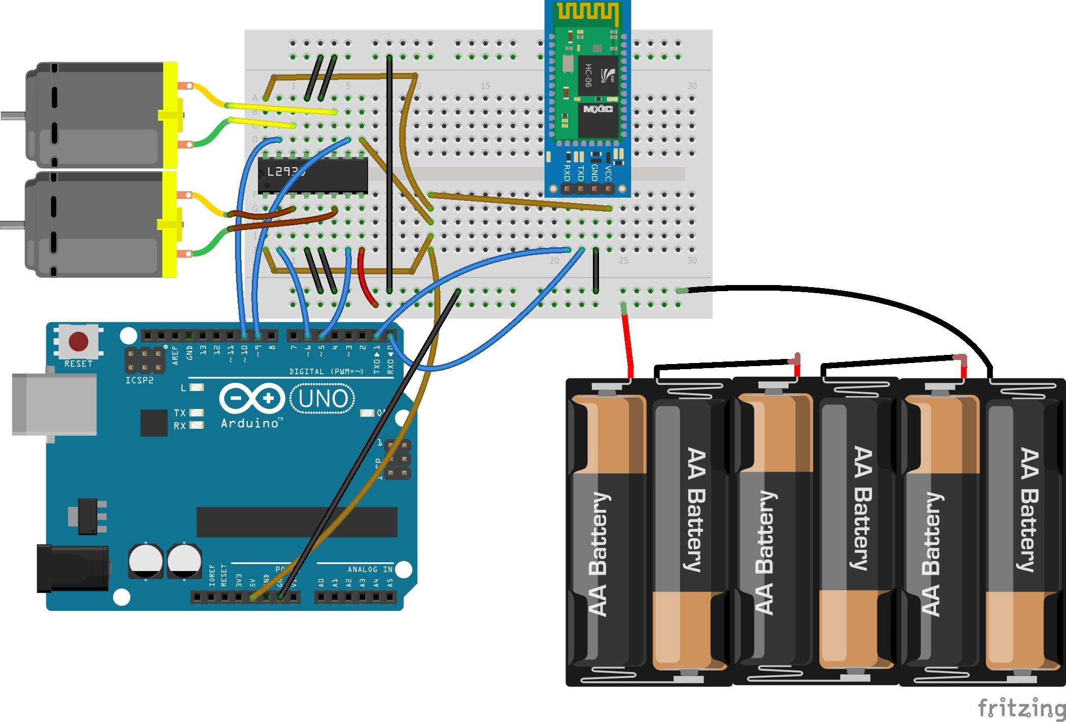 Bluetooth based dc motor speed and direction control using