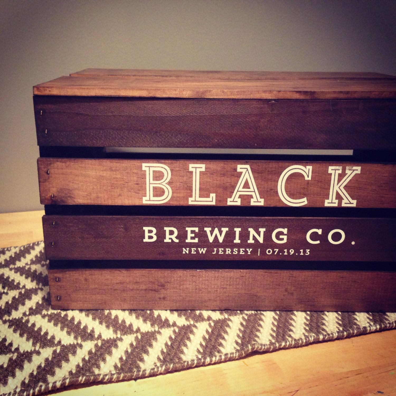 CUSTOM beer crate wedding card box gift