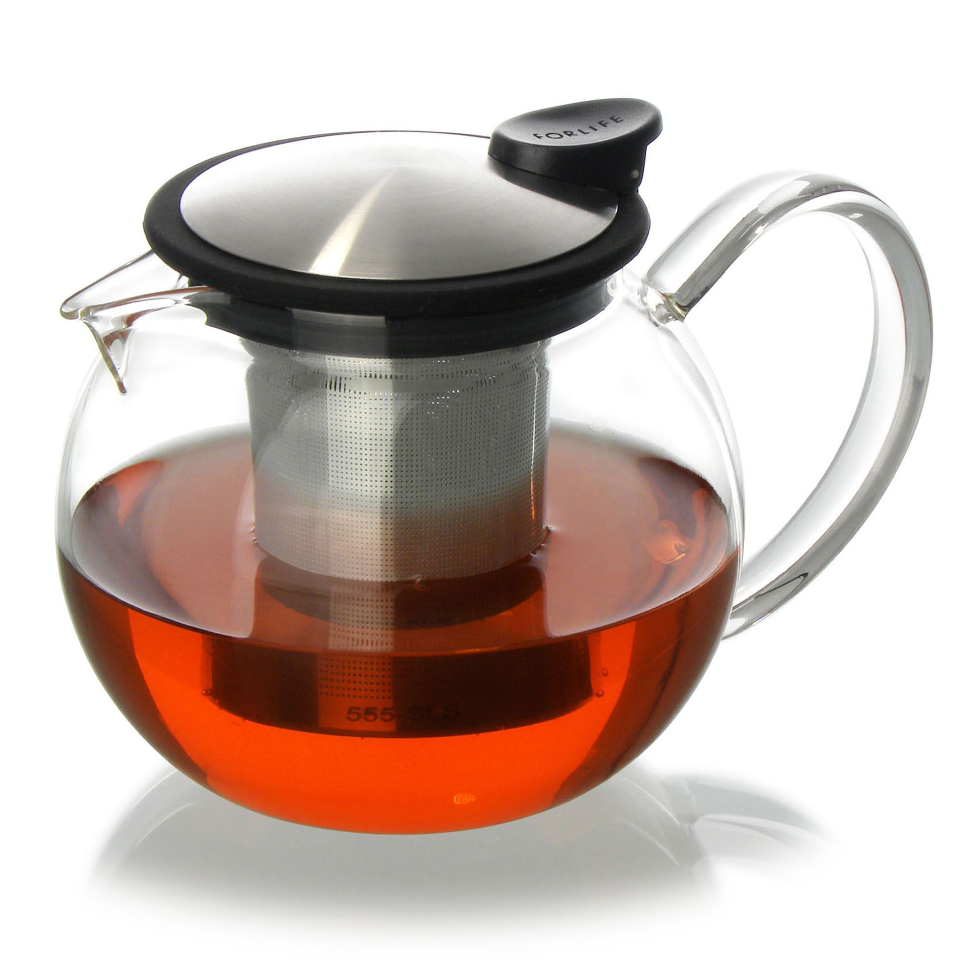 Glass Teapot with Basket Infuser (25 Oz) Glass teapot