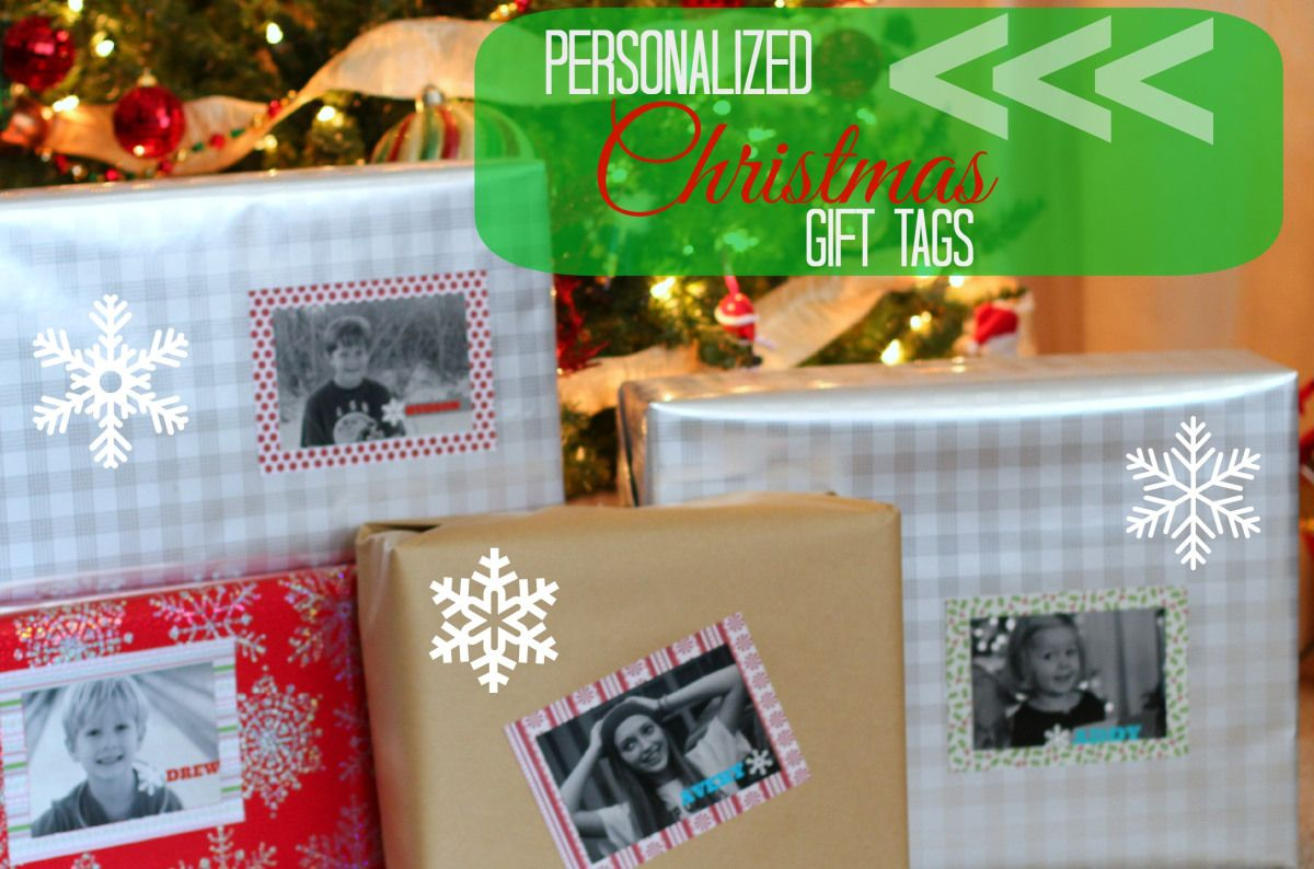 Personalized Christmas Gift Tag for Presents: I like that these are printed in black and white. What a great way to perosnalize a gift!