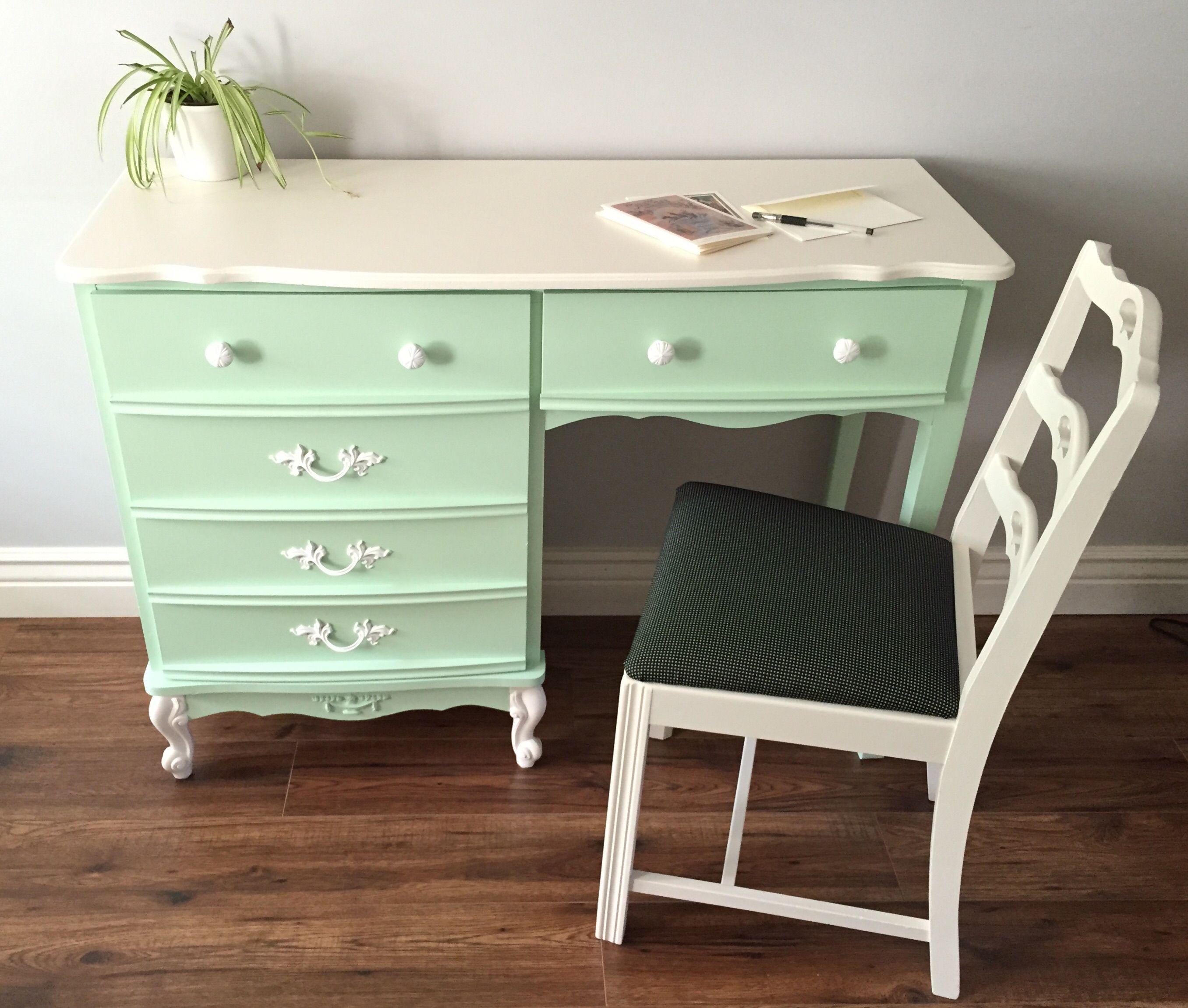 french provincial desk makeover painted furniture desk makeover rh pinterest com