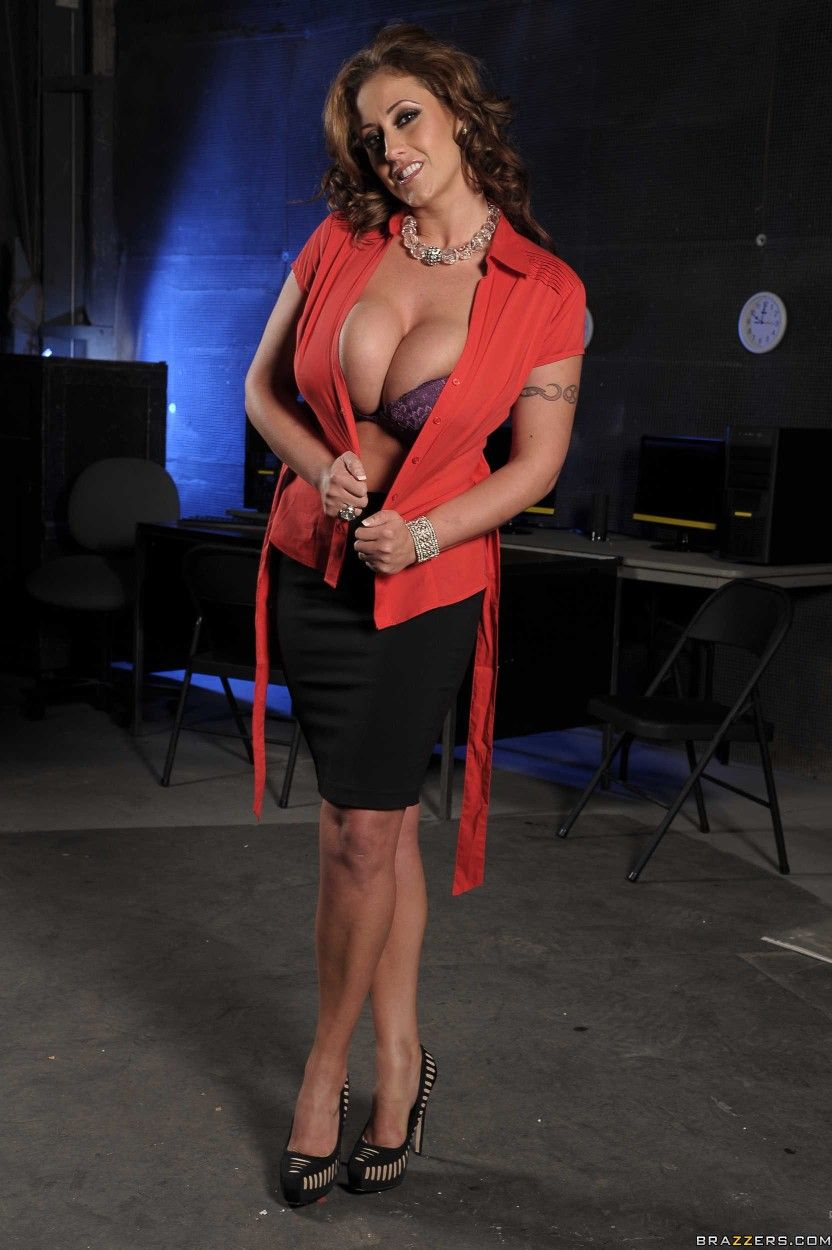 Busty red milf birthday present