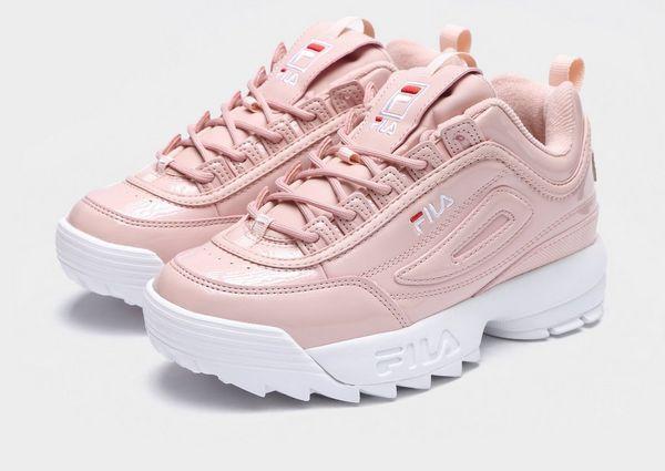 tenis fila color oro rosa