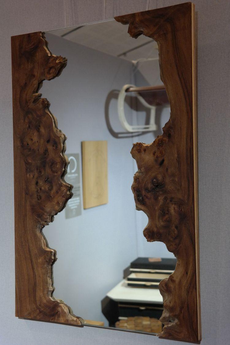 Miroir loupe d 39 orme labo voluptas en 2019 wood mirror home decor et diy furniture for Miroir loupe
