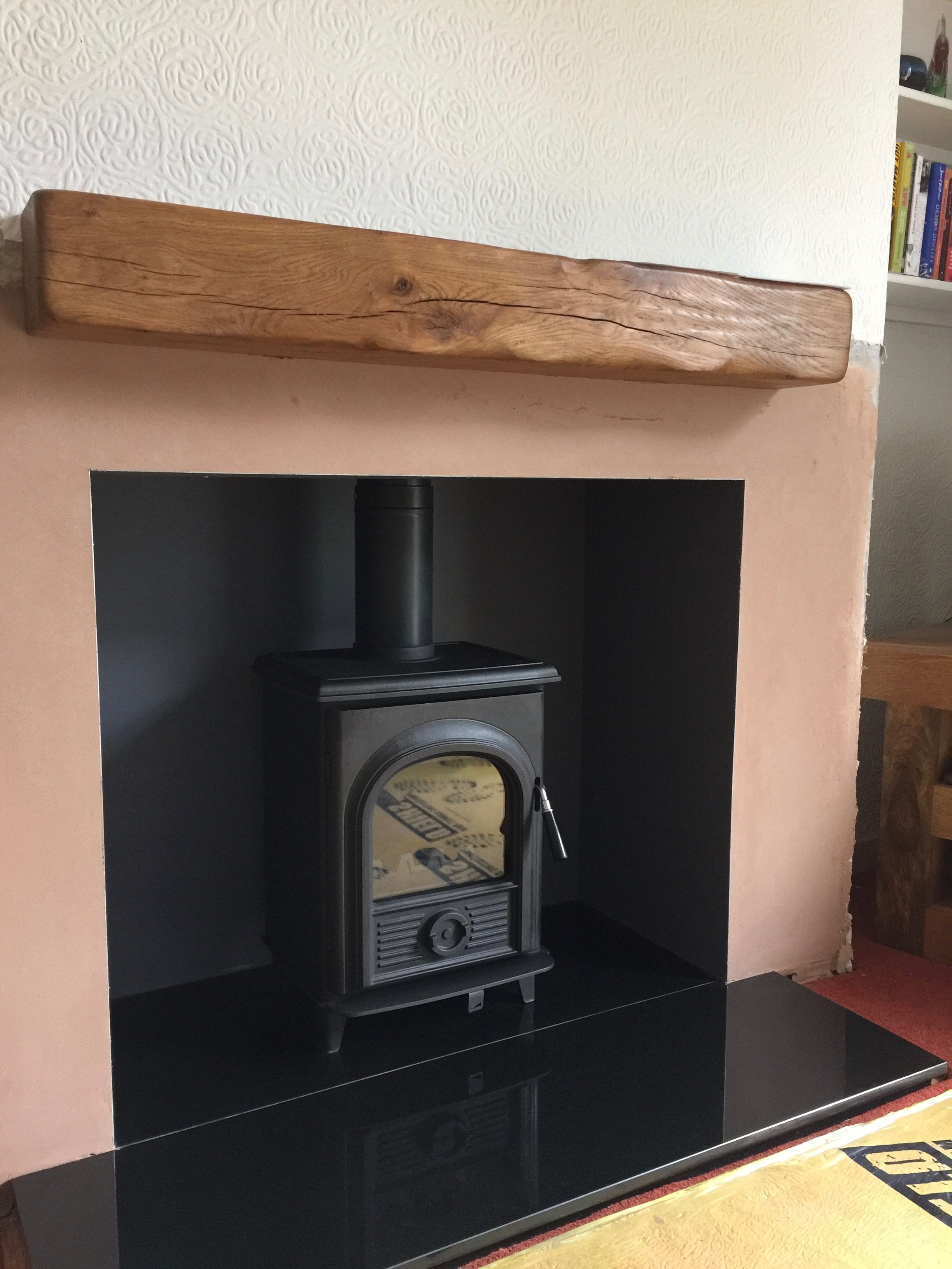 alpha 1 granite hearth fire board chamber solid oak beam www rh pinterest es