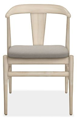 Evan Chair   QTY 4 Stocked Flint Charcoal Weave or allow extra time Sunbrella canvas slate.